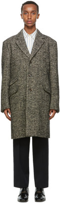 Gucci Grey Wool Herringbone Coat