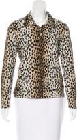 Blumarine Wool Cheetah Print Top