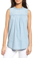 Treasure & Bond Women's Ruffle Chambray Top