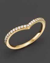 Khai Khai 18K Yellow Gold Chevron Ring with Diamonds, .20 ct. t.w.