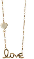 Argentovivo 18K Gold Plated Sterling Silver Love Pendant Necklace