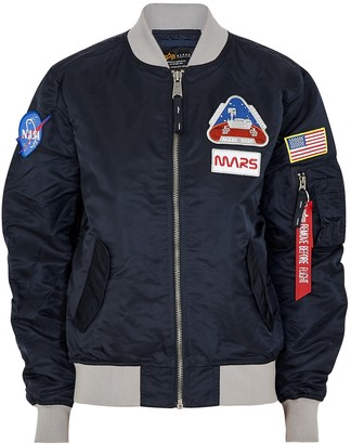 Alpha Industries MA-1 Mission To Mars nylon bomber jacket