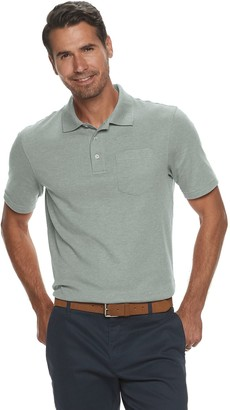 Croft & Barrow Men's Easy-Care Extra-Soft Pocket Polo in Regular and Slim Fit