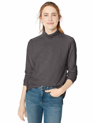 Goodthreads Amazon Brand Women's Vintage Cotton Turtleneck T-Shirt