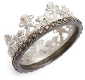 Armenta Old World Half Crown Diamond Ring