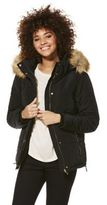 F&F Faux Fur Trim Shower Resistant Padded Jacket, Women's
