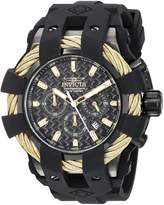 Invicta Men's 'Bolt' Quartz Stainless Steel and Silicone Casual Watch, Color: (Model: 23866)