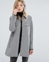 MANGO Houndstooth Coat With Pocket Detail