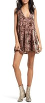 Free People Women's Ellie Burnout Velvet Minidress
