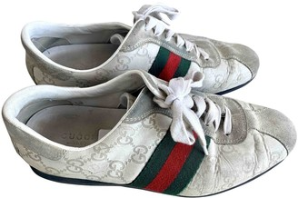 Gucci Ace Beige Leather Trainers