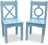 Lipper Kids Chairs in Blue (Set of 2)