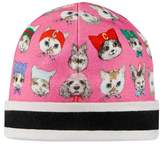 Gucci Baby pets print cotton hat