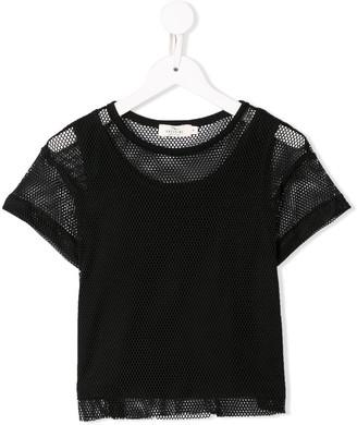Andorine layered mesh T-shirt