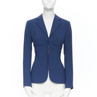 La Perla Blue Wool Jacket for Women