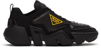 Prada Black Square Toe Logo Sneakers
