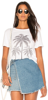 Lauren Moshi Evie Palm Crop Tee in White. - size M (also in S,XS)