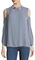 Collective Concepts Cold-Shoulder Striped Blouse