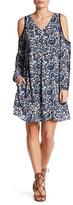 ECI Crinkle Crayon Cold Shoulder Dress