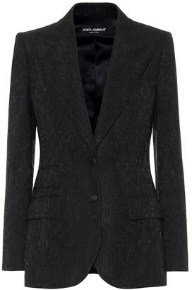 Dolce & Gabbana Floral-jacquard blazer