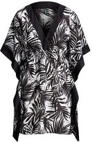 Ralph Lauren Palm-Print Voile Cover-Up