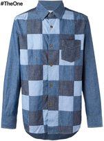 Comme des Garcons patchwork denim shirt