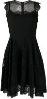 Dolce & Gabbana mesh detail pleated dress