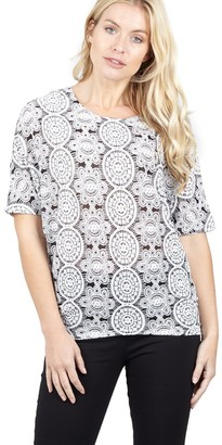 M&Co Izabel mosaic print relaxed top