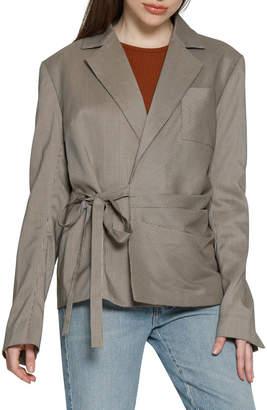 Patricia Check Tie-Front Blazer