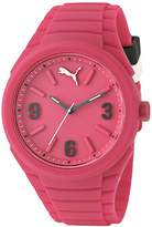 Puma Gummy Women's Quartz Watch with Pink Dial Analogue Display and Pink Silicone Strap PU103592004