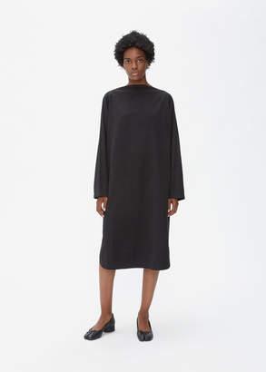 Black Crane Folded Neck Dress