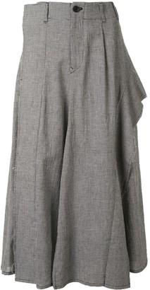 Yohji Yamamoto Checked High-Waisted Trousers
