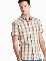 Lucky Brand Santa Fe Western Plaid Shirt