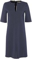 Marella SARONG 3/4 sleeve anchor print v neck shift dress