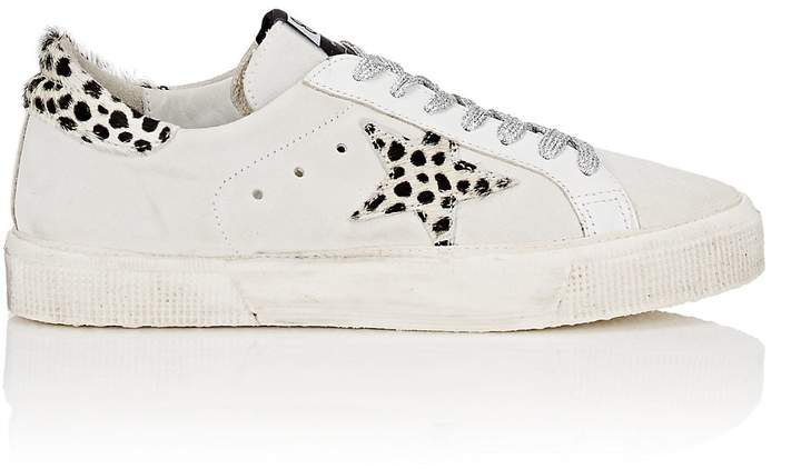 Golden Goose Women's May Suede & Leather Sneakers