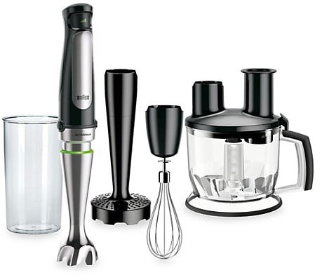 Braun Multiquick 7 Smart-Speed Hand Blender With 500 Watts Of Power, Whisk, Masher & 6-Cup Food Processor