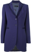 Romeo Gigli Pre Owned embroidered trim jacket