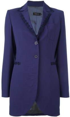 Romeo Gigli Pre-Owned embroidered trim jacket