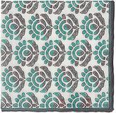 Isaia Men's Floral Pocket Square-GREY