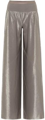 Rick Owens Lilies metallic wide-leg pants
