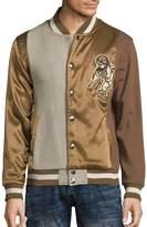 PRPS Men's Aquifer Varsity Jacket - Brown, Size x-large