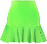 Issa Arabella Neon Stretch-Knit Mini Skirt