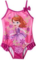 Disney Disney's Sofia the First Toddler Girl Ruffle One-Piece Swimsuit