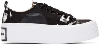 McQ Black and White Plimsoll Platform Sneakers