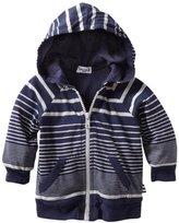 Splendid Littles Baby-boys Newborn Border Stripe Jersey Hood Zip Up