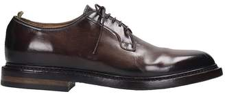 Officine Creative Stanford Lace Up Shoes In Brown Leather