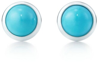 Tiffany & Co. Elsa Peretti Color by the Yard earrings in silver with turquoise