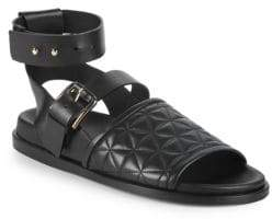 Balmain Achille Quilted Leather Sandals