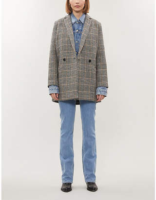 Samsoe & Samsoe Ditte checked wool-blend jacket