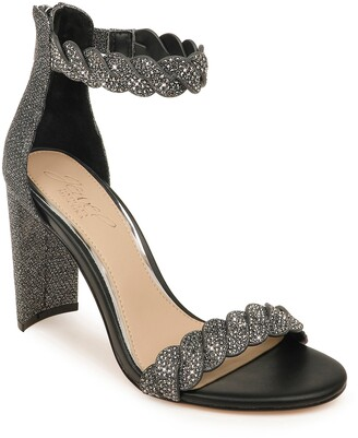 Badgley Mischka Fionne Glitter Embellished Sandal