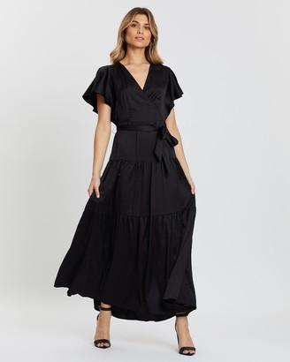 Atmos & Here Lisa Satin Midi Dress